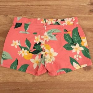 OLD NAVY Girls Pink Floral Tropical Chino Shorts